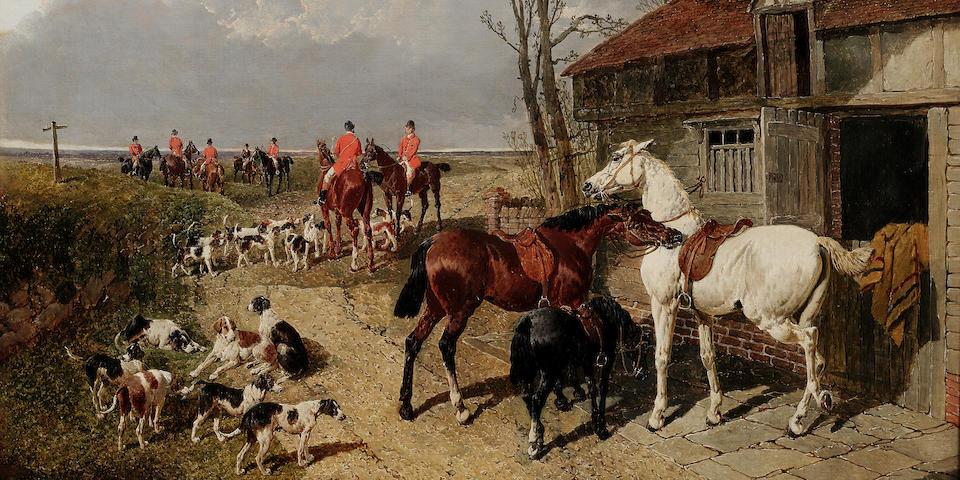 John Frederick Herring, Jnr. (British, 1815-1907) The Meet