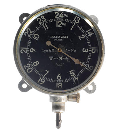 An early Jaeger Paris 'Tours Minute' rev counter, French,