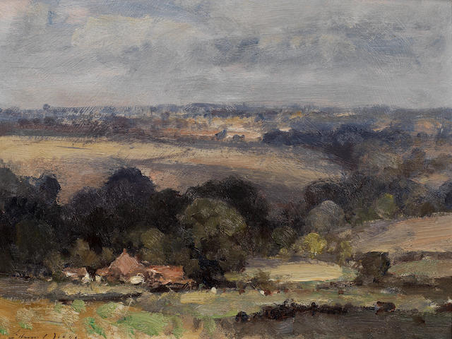 Edward Seago, RWS (British, 1910-1974) 'Norfolk landscape - Summer'