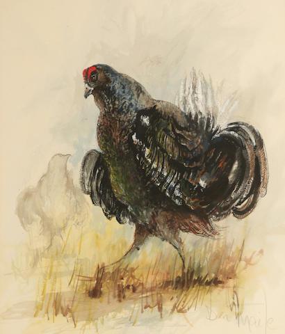 Ben Maile (British, born 1922) Black Grouse