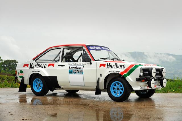 The ex-Pentti Airikkala, Roger Clark, Ari Vatanen, Björn Waldegård, David Sutton (Cars) Ltd,1975 Ford Escort RS1800 Rally Car  Chassis no. 1CBA84889 Engine no. HML2000/1