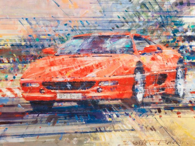 'Twenty Years of the Ferrari F355' limited edition print after Dexter Brown,