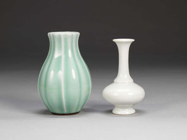 Two monochrome vases 18th century