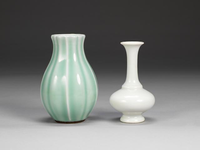 Two monochrome vases 18th century