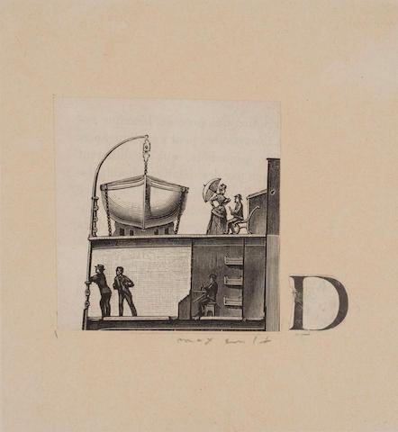 Max Ernst (German, 1891-1976) Lettrine D