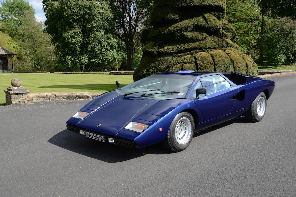 12,500KMs from new,1975 Lamborghini Countach LP400 'Periscopio' Coupé  Chassis no. 1120070 Engine no. 1120068