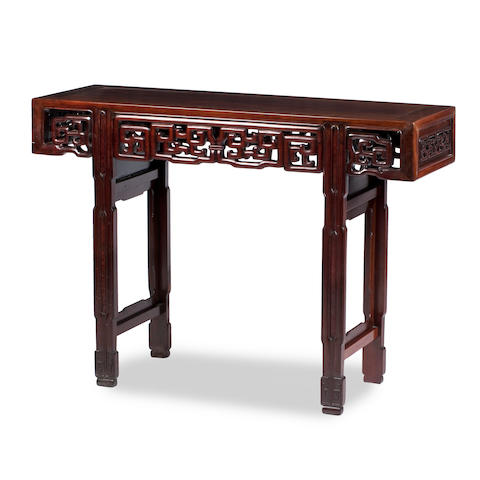 A huanghuali side or altar table 19th century