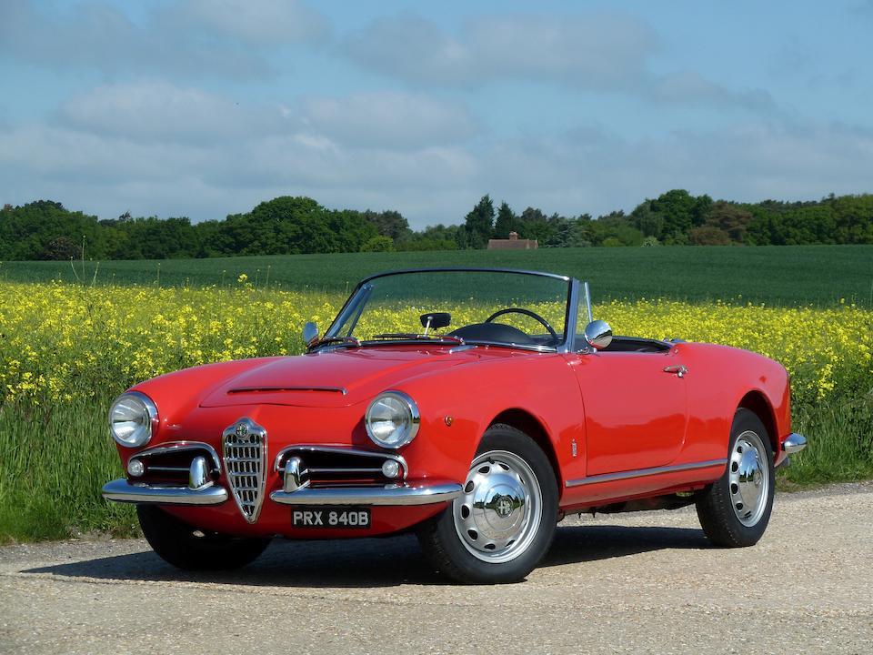 1964 Alfa Romeo  Giulia 1600 Spider  Chassis no. AR 379416 Engine no. AR00526 00524