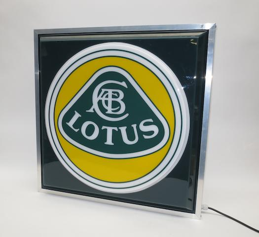 A 'Lotus' illuminating sign,