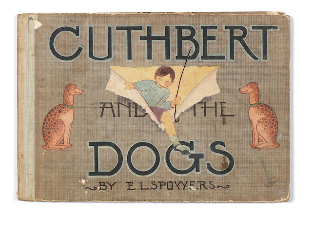 Ethel Spowers (Australian, 1890-1947) Cuthbert and the Dogs The book, circa 1948,  with illustrations in colours and in black by Ethel Spowers, printed by The Specialty Press Pty, Ltd., Melbourne, published by Digest Juvenile Productions, bound as issued in printed boards, 195 x 285mm (7 3/4 x 11 1/4in)(vol)