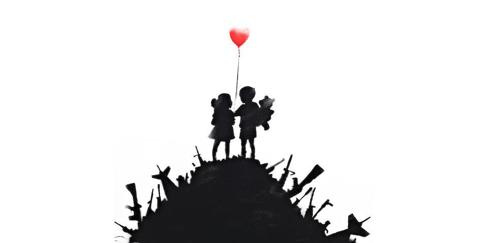 Banksy (b. 1975) Kids on Guns 2013
