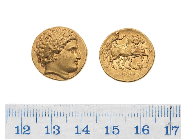 Macedonian Kingdom, Philip II, 359-336BC, gold stater, 8.58g, posthumous issue of Lampsacus,