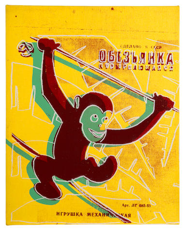 Andy Warhol (American, 1928-1987) Monkey (Toy Painting) 1983