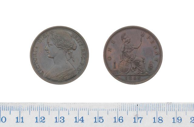 Victoria, Proof Penny, 1868, laureate bust left,