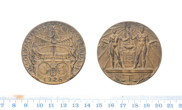 Olympic Games Amsterdam 1928, Bronze Medal awarded to J.Lauterwasser for the Cylcling Time Trial.