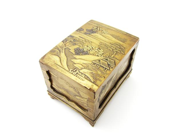 A lacquer writing box (suzuribako) 19th century