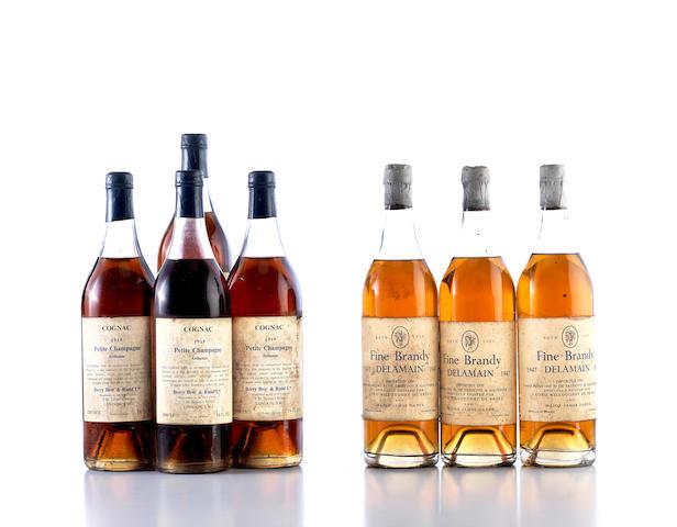Petite Champagne Arthenac Cognac 1919 (4) Delamain Fine Brandy 1947 (3)
