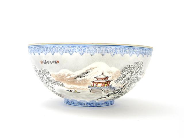 A famille rose 'eggshell' porcelain bowl 20th century
