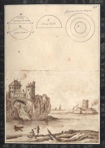 """ARCHITECTURE and GEOMETRY - MANUSCRIPT Manuscript entitled """"Traité de mathematique"""", [Northern France or Belgium, eighteenth century]"""