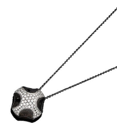 A diamond pendant necklace, by Asprey