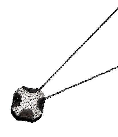 A diamond pendant necklace, by Asprey