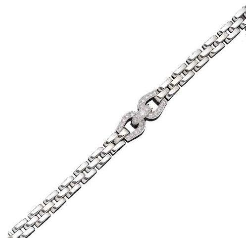 A diamond 'Étrier' bracelet, by Cartier