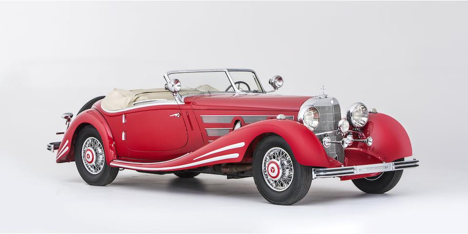 Sold without reserve to benefit the Cancer and Alzheimer's Charities of Sweden,1934 Mercedes-Benz 500 K/540 K (factory upgrade) Spezial Roadster Chassis no. 105136 Engine no. 105136