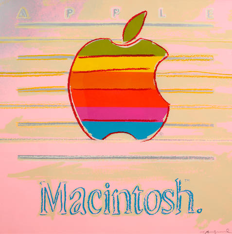 Andy Warhol (American, 1928-1987) Apple, from Ads Screenprint in colours, 1985, on Lennox Museum board, signed and inscribed 'E.P. 3/5' in pencil lower right, one of 5 exhibition proofs aside from the edition of 190, printed by Rupert Jasen Smith, New York, published by Ronald Feldman Fine Arts Inc., New York, the full sheet printed to the edges, 965 x 965mm (38 x 38in)(SH)