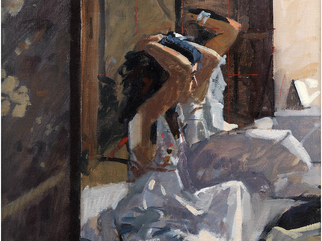 Ken Howard (British, born 1932) Girl in a white dress