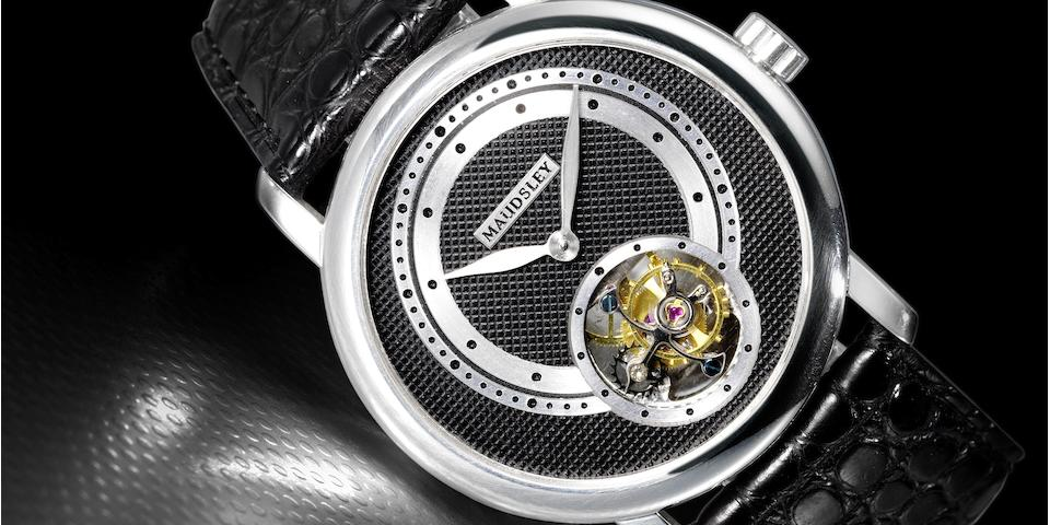 Paul Maudsley (born 1971)A unique Tourbillon wristwatch Executed in 2009
