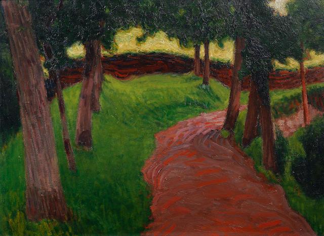 Roderic O'Conor (Irish, 1860-1940) Paysage Breton 54.2 X 73.7 cm. (21 1/4 x 29 in.)
