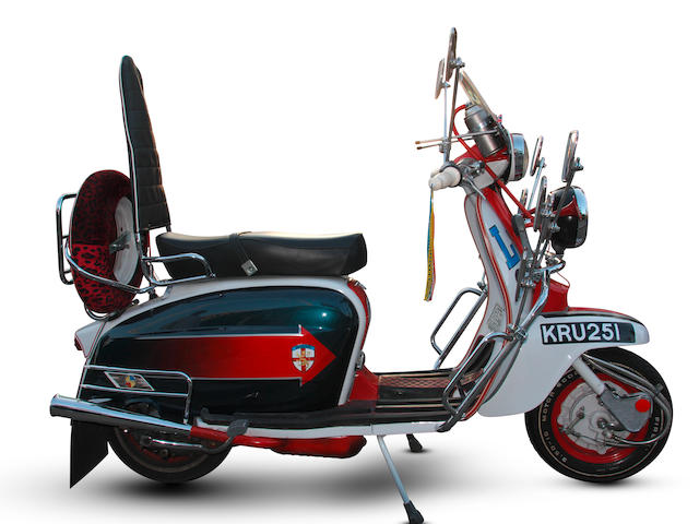 Used to promote 'Quadrophenia' when the DVD version was re-released in 2008 and offered with a certificate from the film production company signed by story consultant Alan Fletcher, c.1966 Lambretta Li 125 'Jimmy' Replica Scooter,
