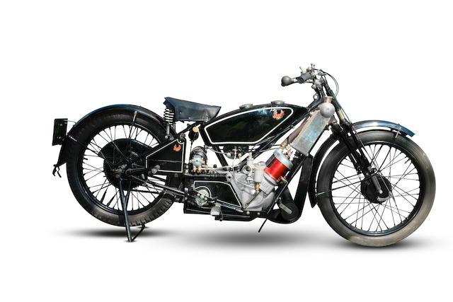 c.1929 Scott 498cc Sports Squirrel Frame no. 2963 Engine no. 6845R