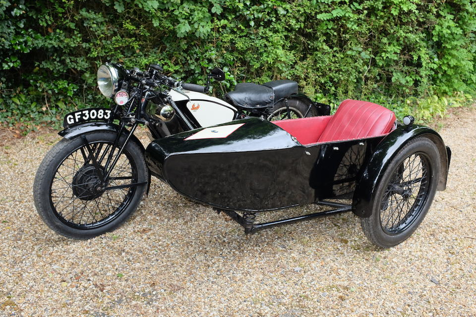 1930 Scott 596cc Flying Squirrel Tourer & Scott Sidecar Frame no. 3382 Engine no. FY3048A