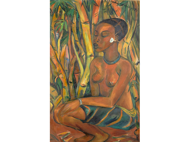 Irma Stern (South African, 1894-1966) 'Congo Woman'