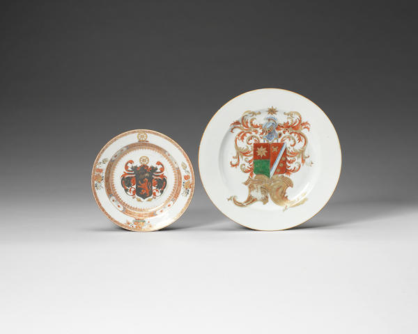 Two armorial dishes Yongzheng-Qianlong