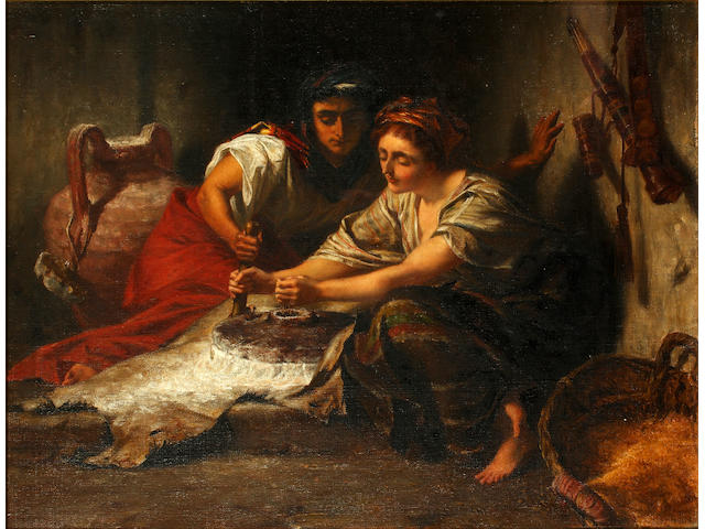 Alfred Elmore (British, 1815-1881) 'Two Women Shall be Grinding at the Mill'