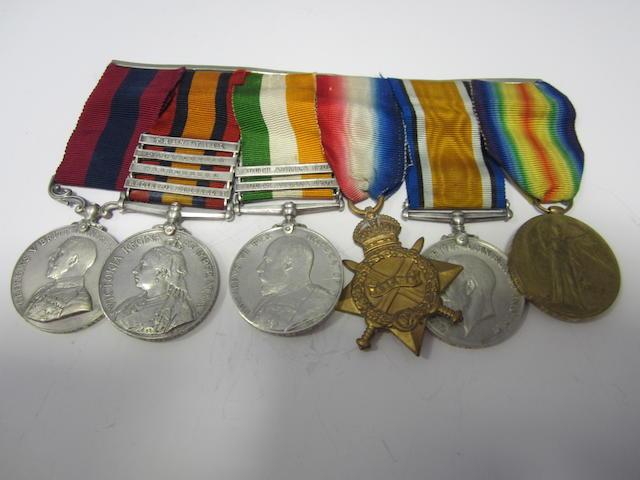 A Great War D.C.M. group of six to Bombardier B.Birch, Royal Field Artillery,