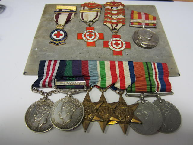 A Second World War M.M. group of seven to Corporal L.G.Cushing, Royal Engineers,