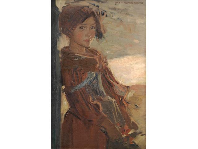 Harrington Mann (British, 1864-1937) Italian peasant girl
