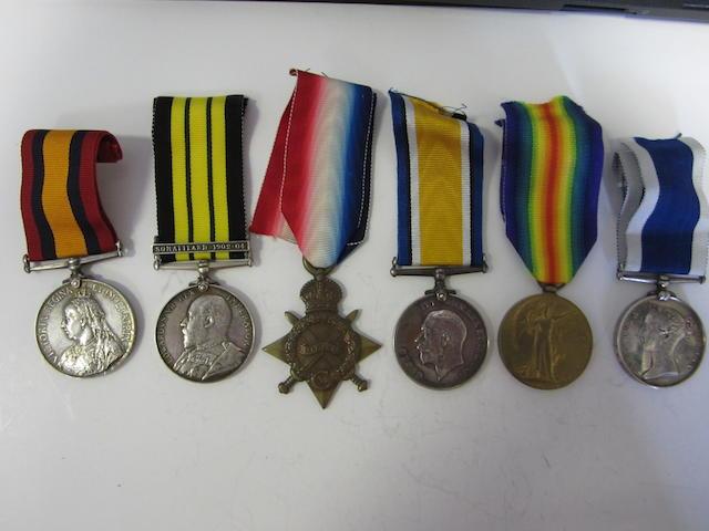 Six to Master at Arms J.T.Knight, Royal Navy,