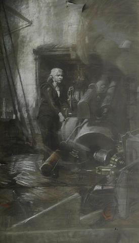 Frank O. Salisbury RI, ROI, RP (British, 1874-1962) Large preparatory portrait of Jack Cornwell