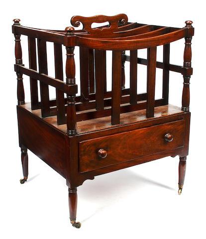 A George IV mahogany canterbury