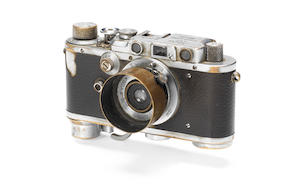 """An historically important Leica III, used by Yevgeny Khaldei to take the iconic """"Raising a flag over the Reichstag"""" photograph, 1937,"""