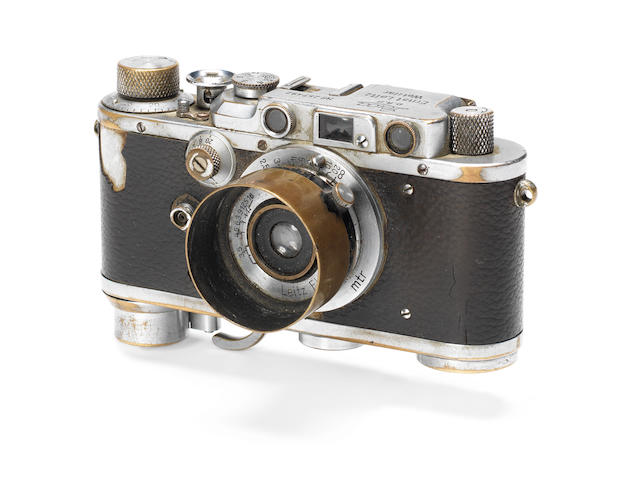 "An historically important Leica III, used by Yevgeny Khaldei to take the iconic ""Raising a flag over the Reichstag"" photograph, 1937,"