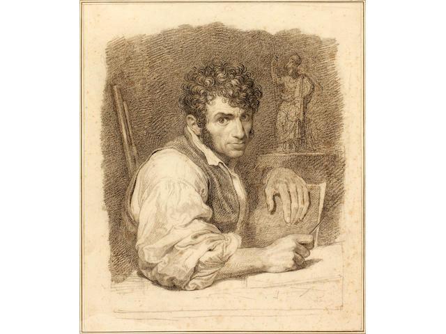 Attributed to Tommaso Minardi (Italian, 1787-1871) Possibly Portrait of Singlio Tomba unframed