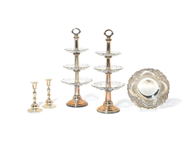 A large quantity of silver and silver plated assorted items various dates and makers  (Qty)