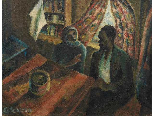 Gerard Sekoto (South African, 1913-1993) The Kitchen Table