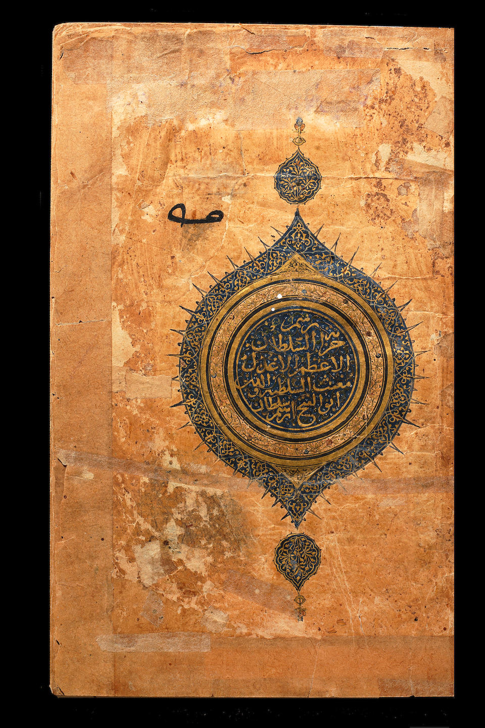 An early illuminated anthology of poetry (divan) by Ibn Yamin (Amir Fakhr-ad-Din Mahmud ibn Yamin al-Faryumadi Tughra'i, d. 1344), commissioned for the library of the Timurid ruler, Ibrahim Sultan, bearing seal impressions of his father Shah Rukh bin Timur Transoxiana, probably Samarkand or Fars, first half of the 15th Century