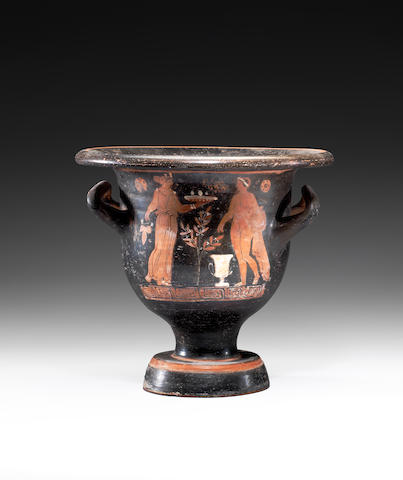 A Greek red-figure bell krater